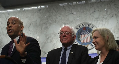 GILLIBRAND AND BOOKER AND BERNIE SANDERS
