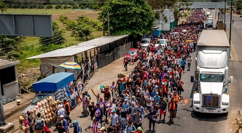 ILLEGALS AND ALIENS AND CARAVAN AND HONDURAS AND MEXICO