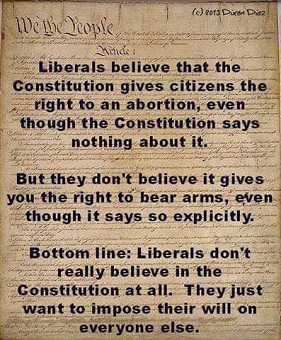 LIBERALS AND GUN CONTROL AND CONSTITUTION AND 2ND AMENDMENT