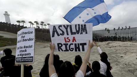 ASYLUM IS A RIGHT AND ILLEGALS AND CARAVAN