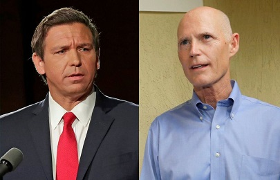 DeSantis and Scott winners in Florida