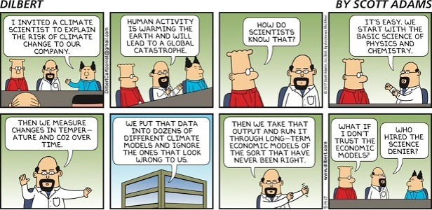 DILBERT AND CLIMATE SCIENCE AND BS