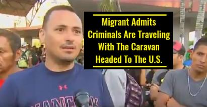 MIGRANT AND CARAVAN AND CRIMINALS AND TERRORISTS
