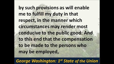 george washington state of the union
