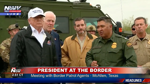 trump at the border