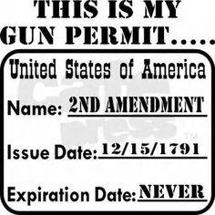 2ND AMENDMENT GUN PERMIT