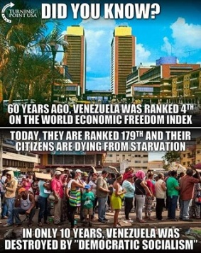 DEMOCRATIC SOCIALISM AND VENEZUELA AND SCOIALISTS AND COMMUNISTS